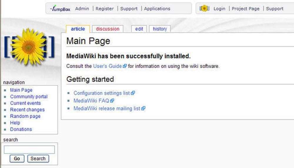 Virtual Appliance med MediaWiki