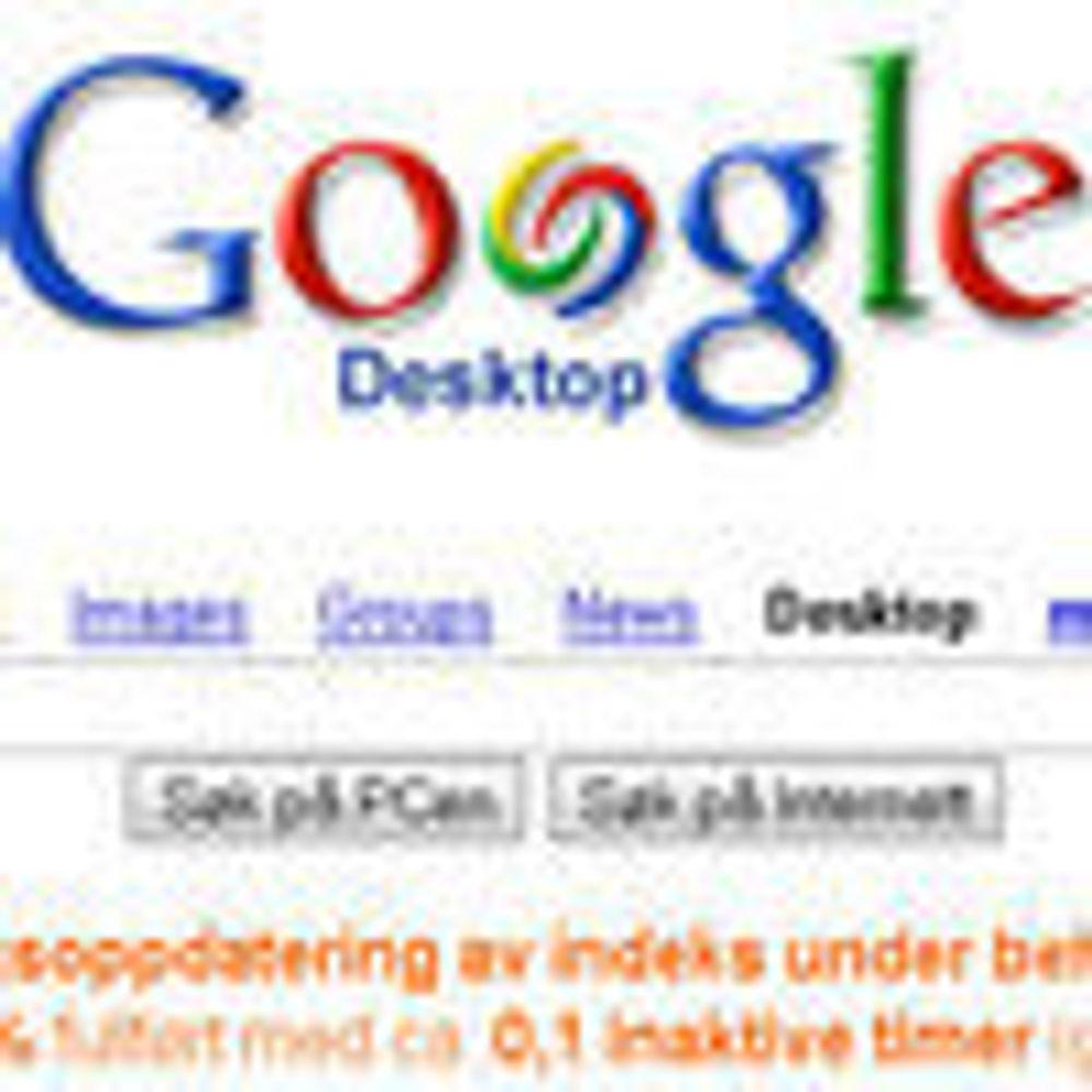 Google Desktop med forhåndsvisning av filer
