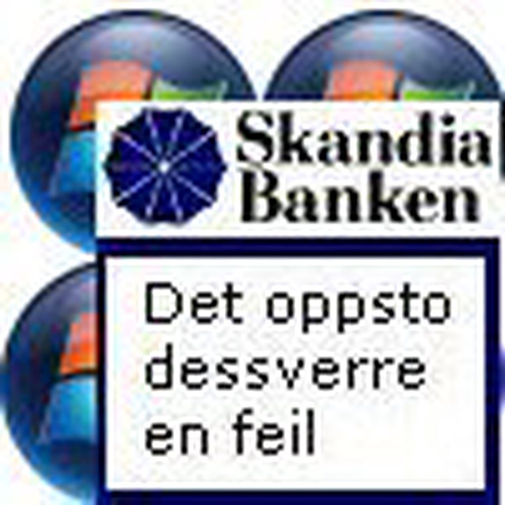 Vista er et problem for Skandiabanken