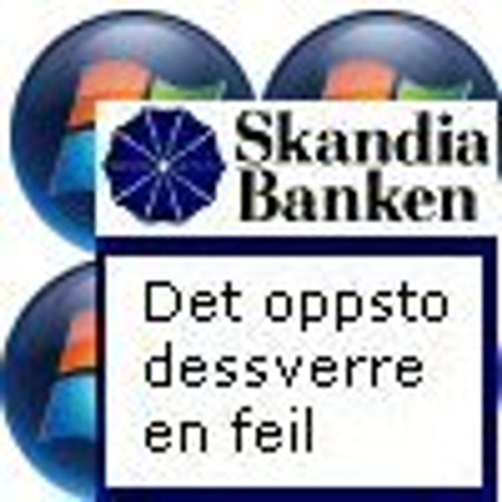 Vista er et problem for Skandiabanken