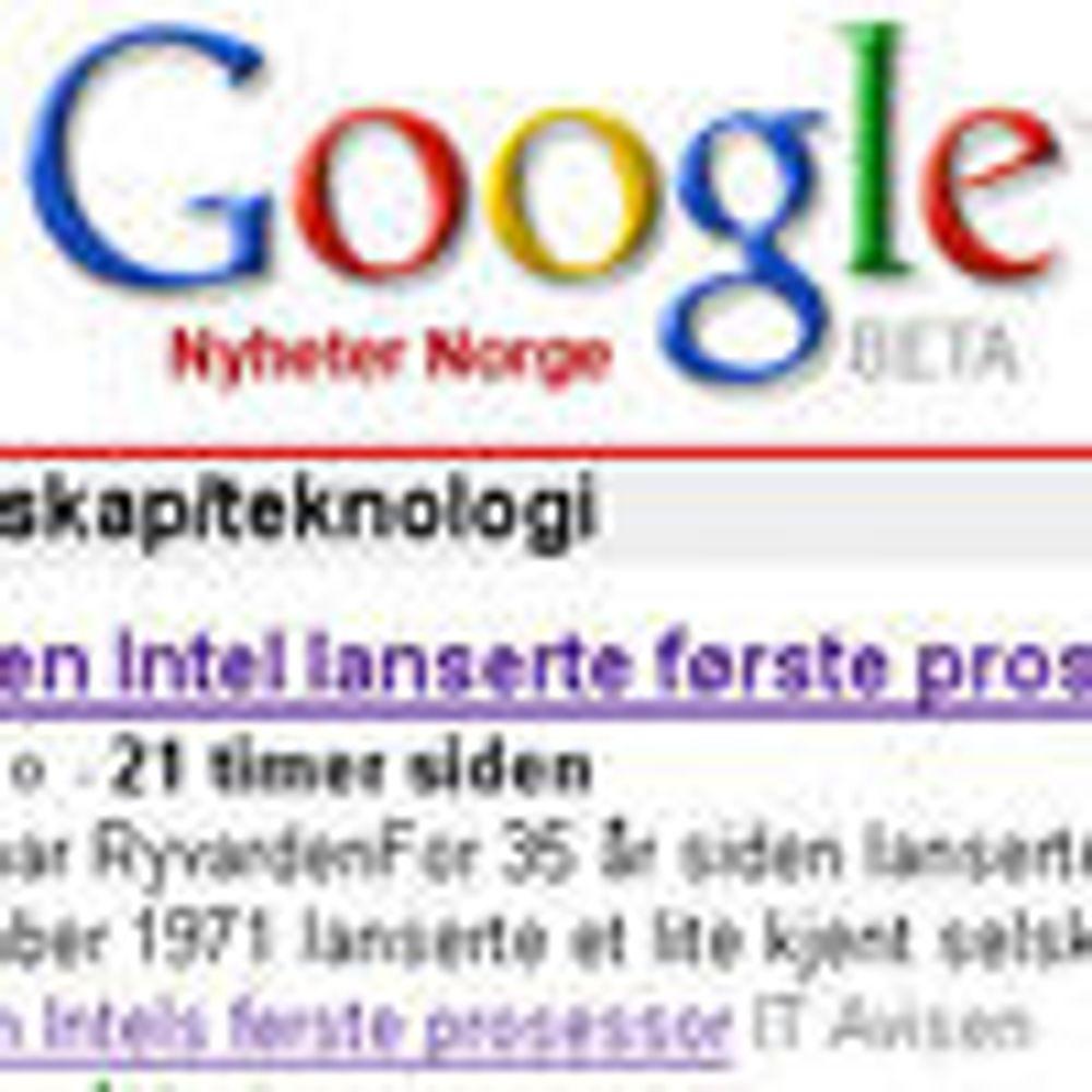 Google News omsider på norsk