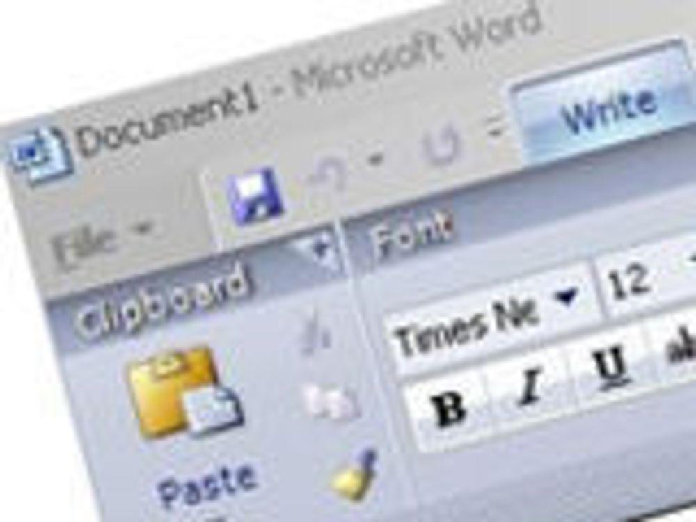 Nytt grensesnitt i Office 2007 bremser kunder