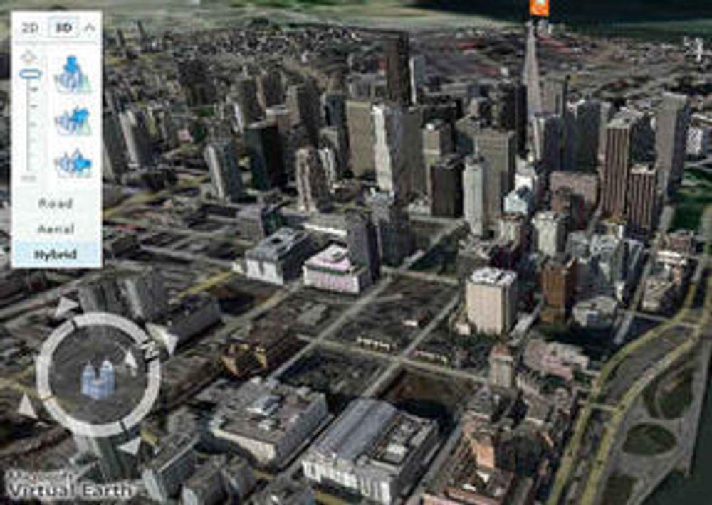 Microsoft angriper Google Earth