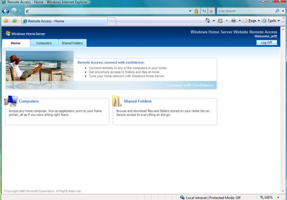 Bilder fra Windows Home Server