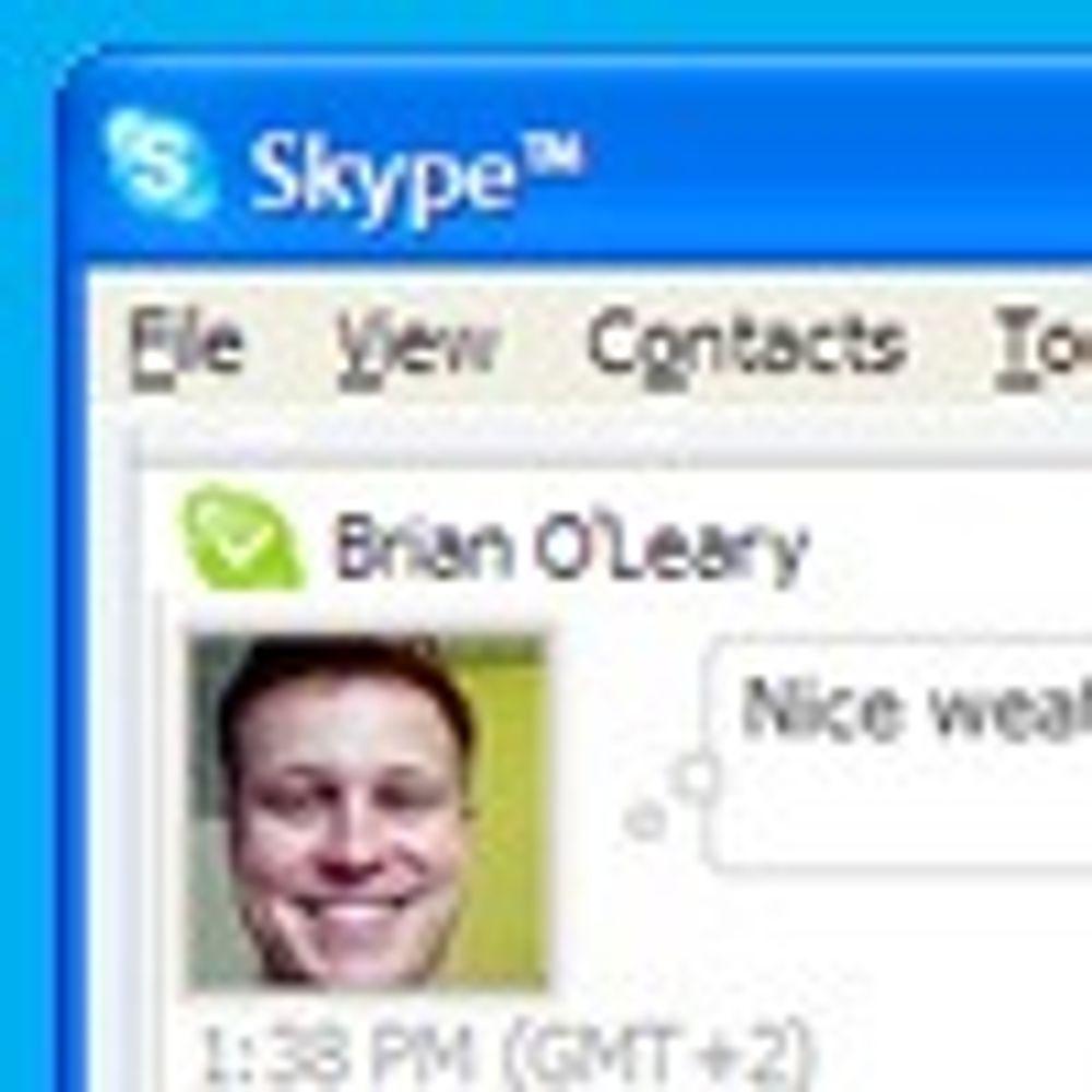 Advarer mot spesiell loggfunsjonalitet i Skype