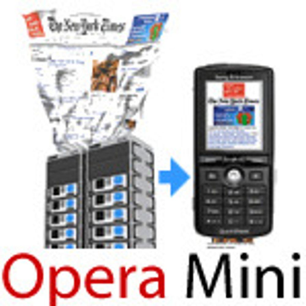 Opera med mer interaktiv mobilnettleser