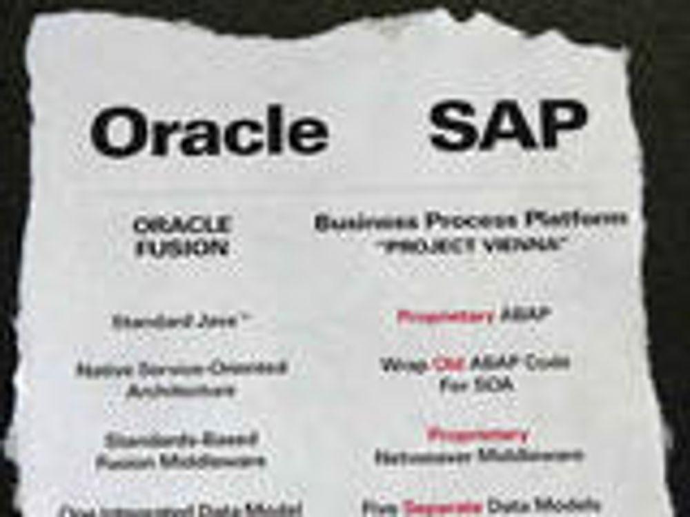 Larry Ellison lager slem SAP-annonse