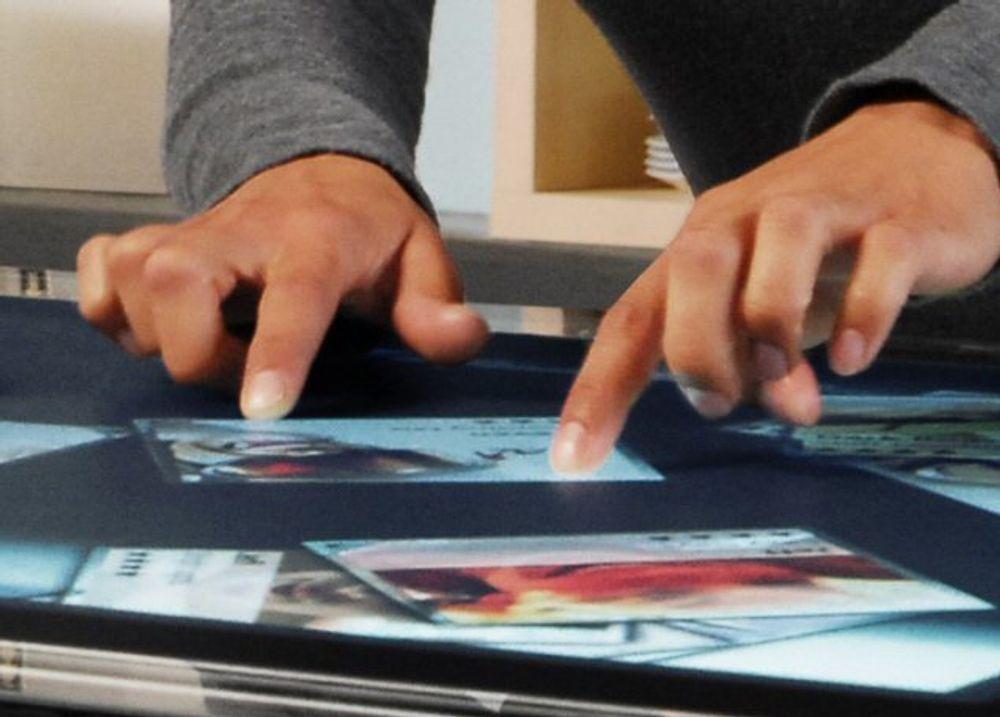 Dette er Microsofts interaktive bord-PC «Surface»