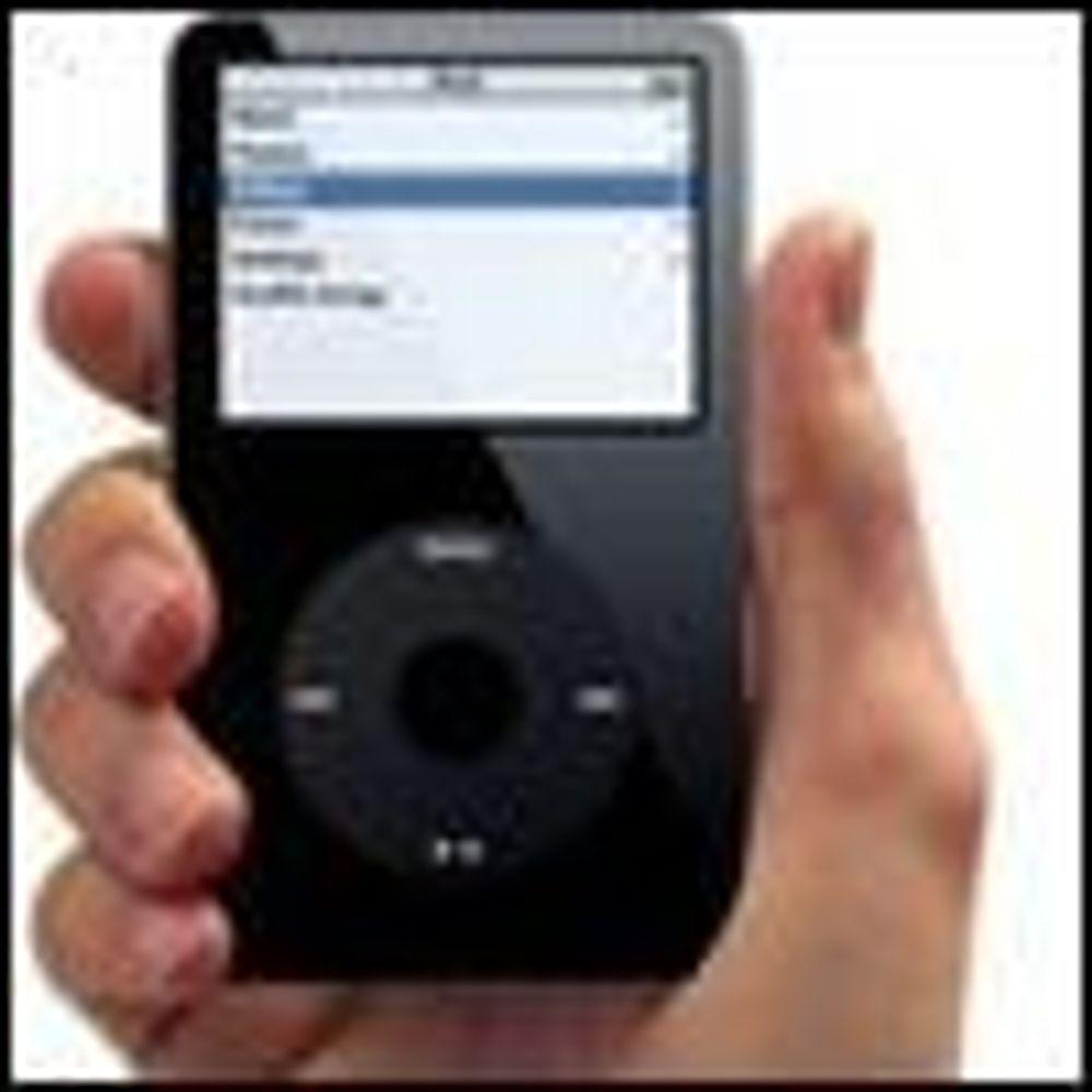 iPod står for halvparten av Apples omsetning