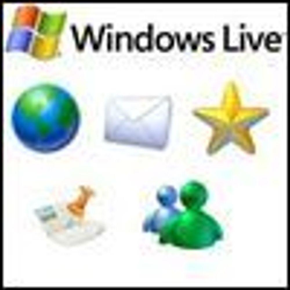 Annonser det sentrale i Windows Live