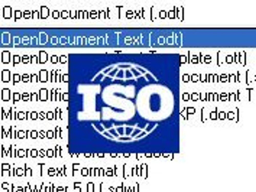 Åpent dokumentformat blir ISO-standard