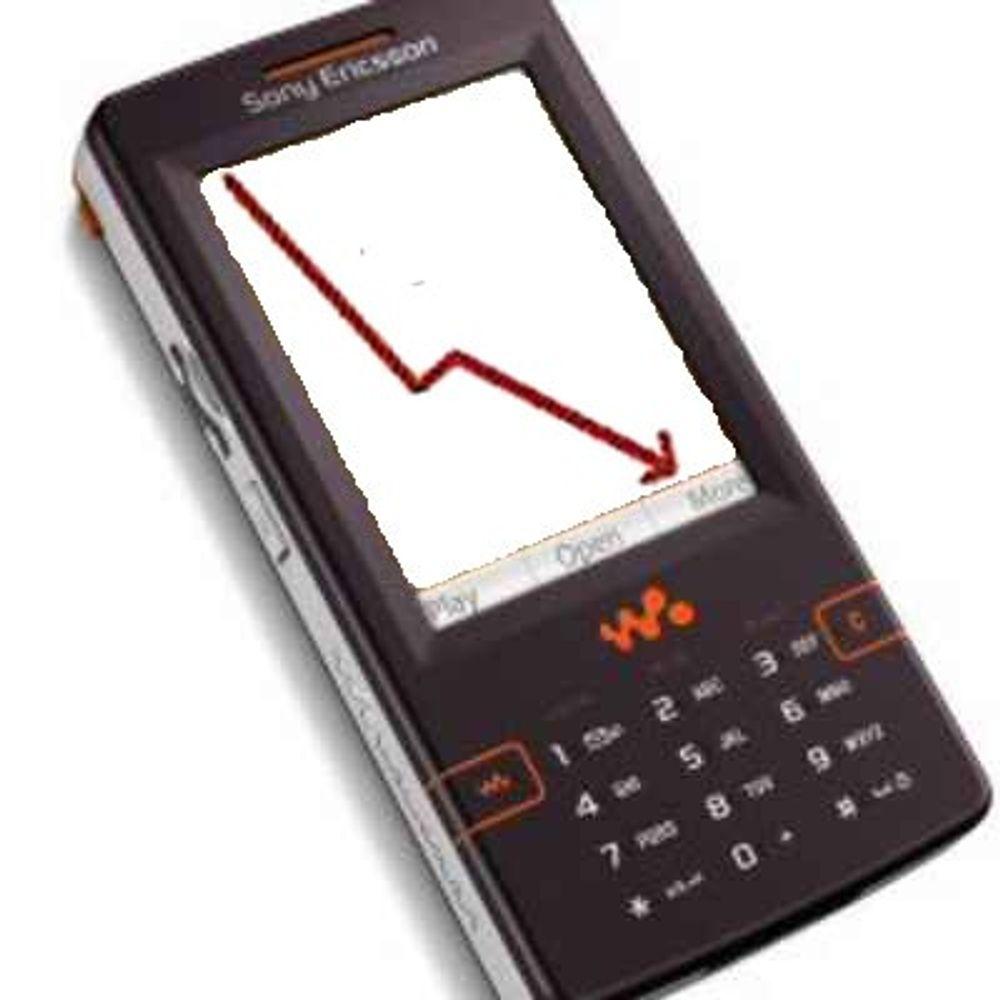 Sony Ericsson taper markedsandeler