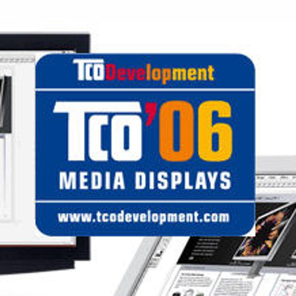 Første skjermer med ny TCO-merking