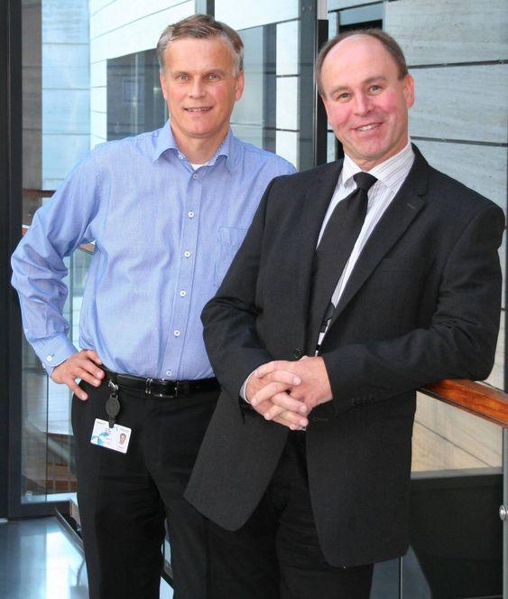 Dagfinn Myhre (t.v.) og Hans Christian Hauglie