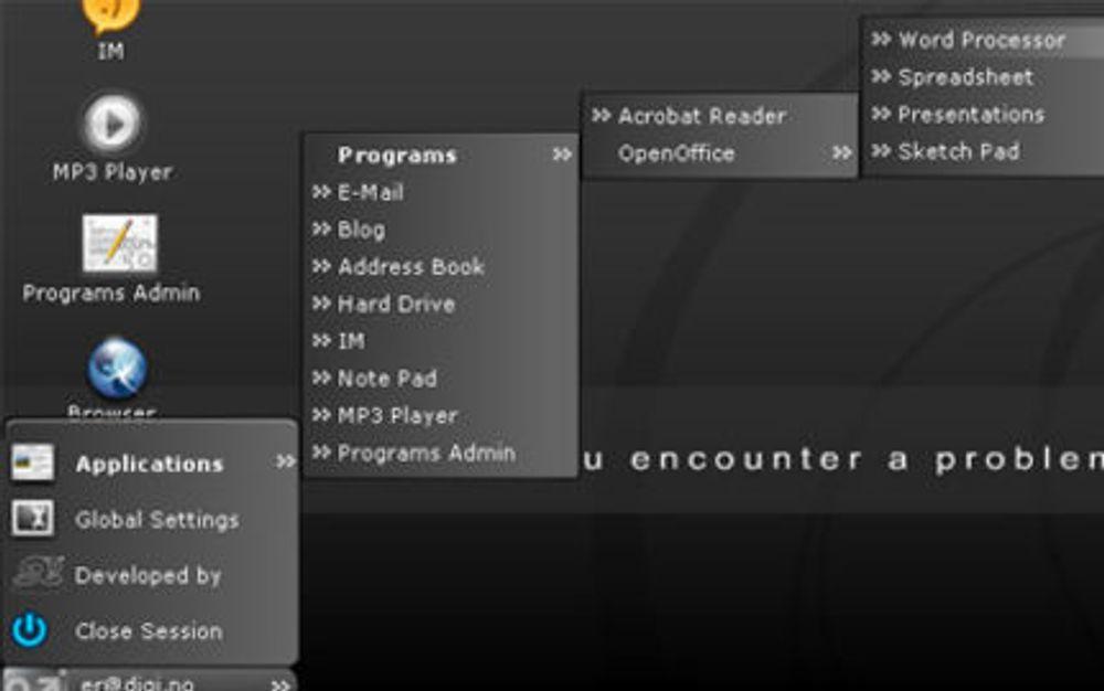 Serverer enkelt PC-miljø over nettet