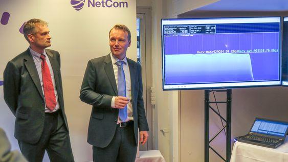 Jon Christian Hillestad og Abraham Foss i Netcom