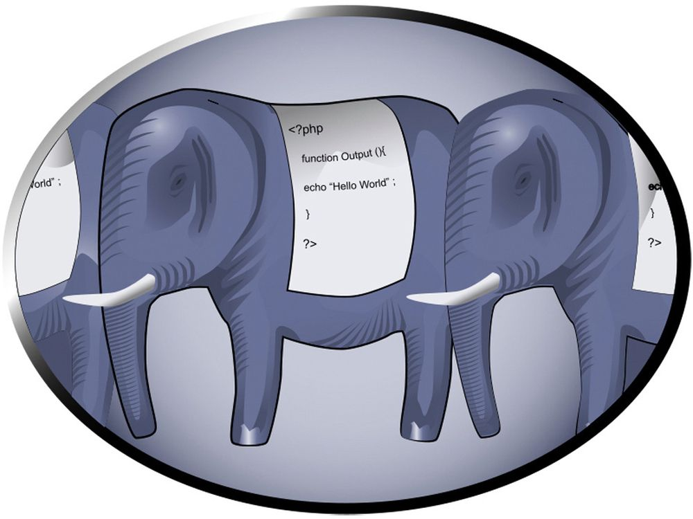 Maskoten til PHP er en elefant.