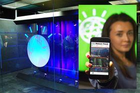 Watson-systemet er drivkraften bak den nye IBM Watson Trend-appen, som her vises fram av Hannah Egan i IBM.