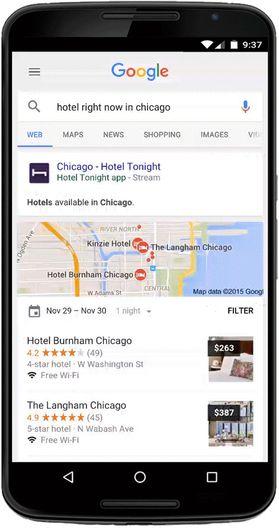 Google har i to år indeksert innhold fra apper. Det omfatter over 100 milliarder såkalte dyplenker. Nå blir det også mulig å strømme apper.