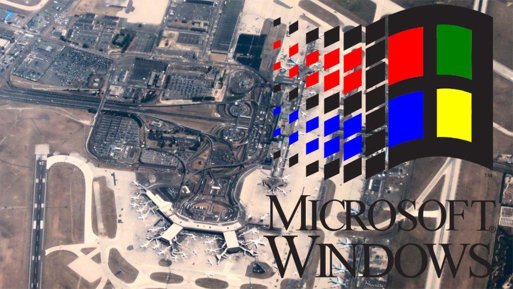 Det er fortsatt systemer med Orly-flyplassen som er basert på Windows 3.1.