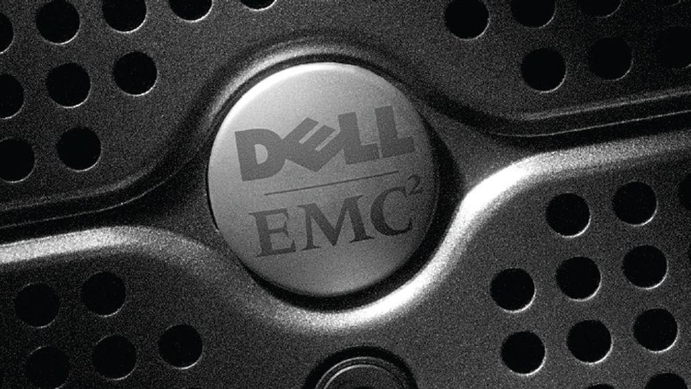 Dell selger nå egne lagringsprodukter, men som bildet viser har de tidligere også samarbeidet med EMC og videresolgt deres produkter. Nå er EMC i spill, og Dell skal være aktuell kjøper.