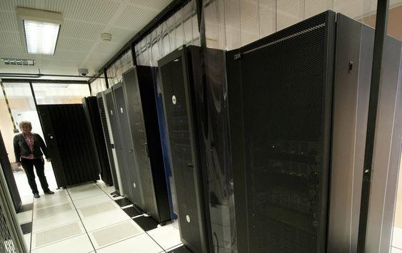Serverrom, datarom i kjelleren på Brreg.