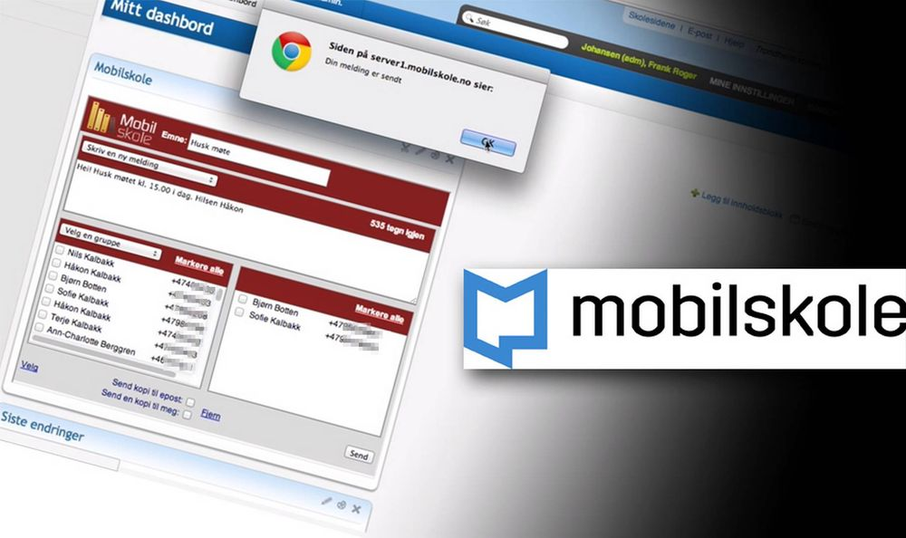 Kun skolens ansatte skal ha adgang til den lukkede Mobilskole-appen, som kjører på It's Learning-plattformen. Likevel kom en elev rett inn via et Google-søk. (Skjermdump fra mobilskole.no)