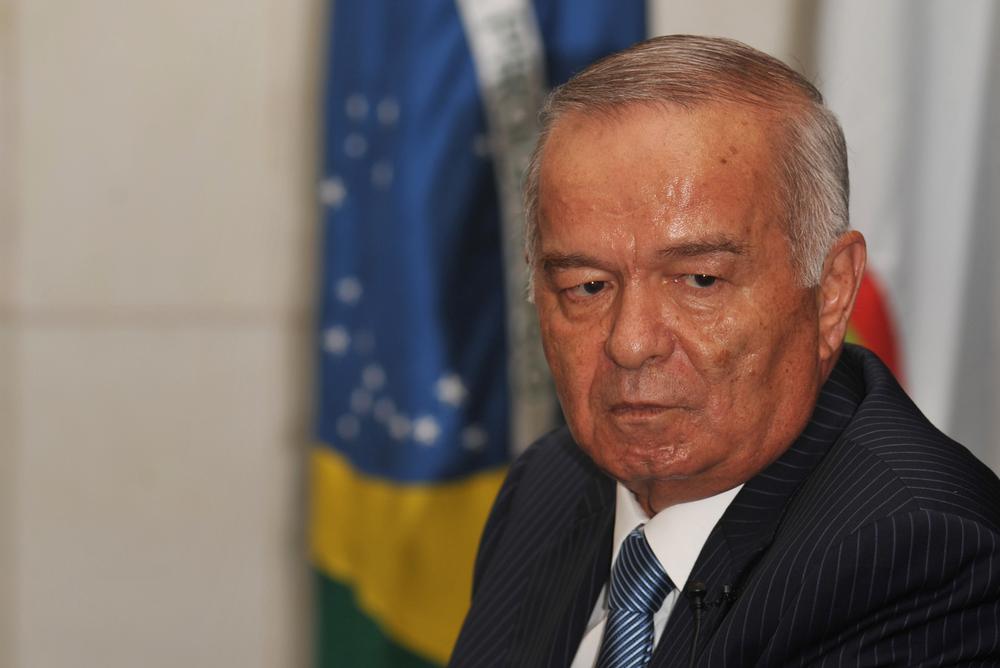 Usbekistans diktator Islam Karimov. Bildet er tatt under et statsbesøk i Brasil i 2009.