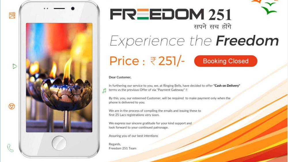 Mange tror at den superbillige Freedom 251-mobilen vil vise seg å være såkalt «vaporware». Likevel er de 30 000 som har forhåndsbestilt den.