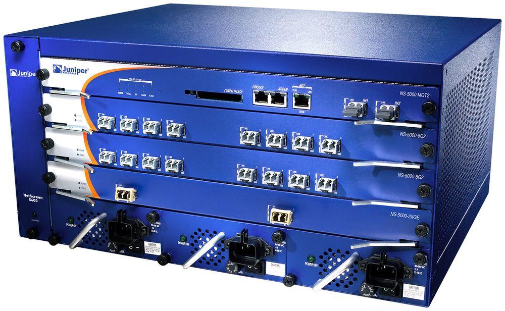 Juniper NetScreen 5400, et av produktene som bruker ScreenOS.