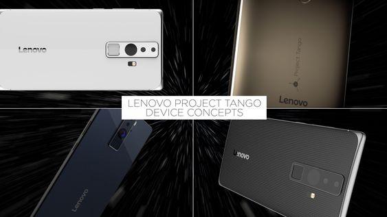 Konseptmodeller av Lenovos kommende Project Tango-smartmobil.