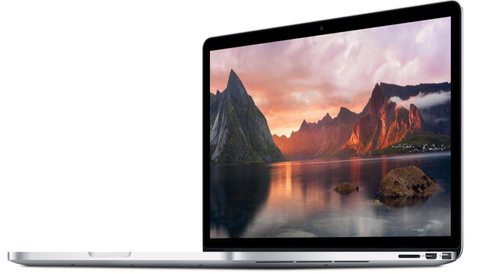 Apple er den eneste av de større pc-leverandørene som økte leveransene i 2015. Her representert ved en Macbook Pro.