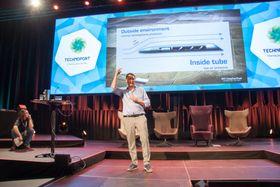 Hyperloop-sjef Dirk Ahlborn besøkte Technoport i Trondheim.