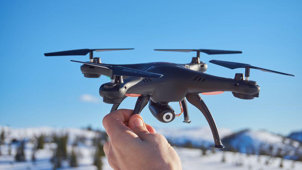 Syma X5SW er en relativt stor drone, men vekten er ikke så høy.