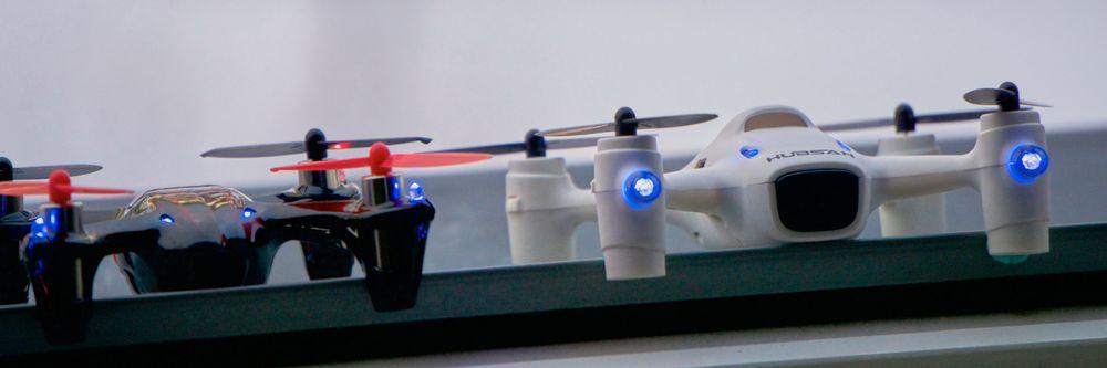 LED-diodene i Hubsan X4 Plus er betydelig større og sterkere enn de som sitter i X4 HD.