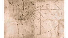 Her er en av tegningene av «Normalsegelapparat» som ble laget for Charles de Lambert som var én av ni som kjøpte luftfarkosten.