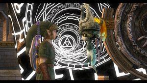 Link og Midna, sammen på eventyr.