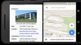 Side-om-side-visning av apper er en av nyhetene i Android N.