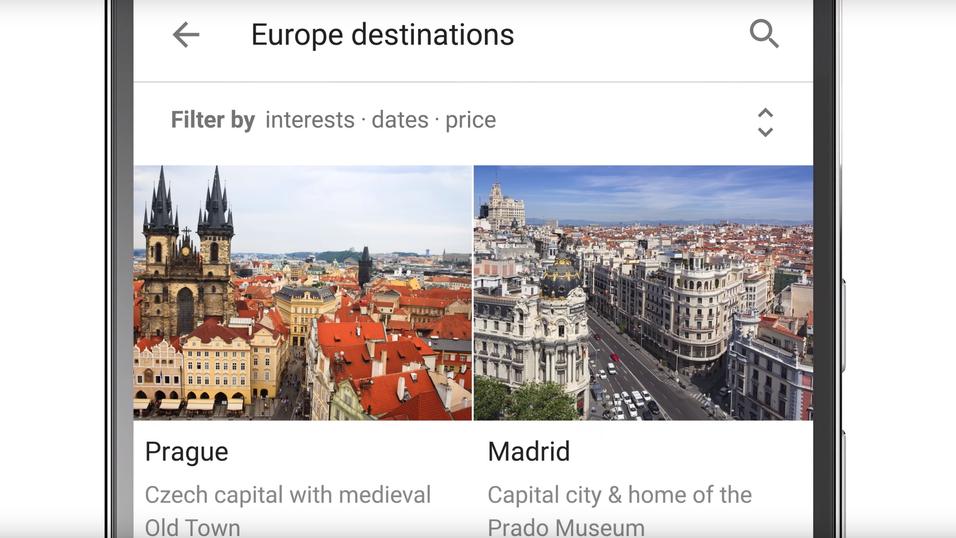 Google Destinations skal gjøre det enkelt å planlegge ferien.