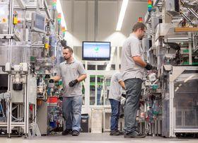 Industri 4.0: Bosch tar sin egen medisin som her ved fabrikken i Stuttgart-Feuerbach hvor maskinene selv rapporterer om sin egen tilstand.