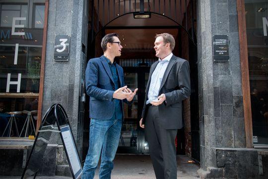 Møtes i skyen: Petter Merok i Microsoft og Steinar Rune Eriksen i Hafslund jobber aktivt for å ta stadig flere IT-tjenester ut i skyen.