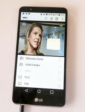 MiniTV 2: Legger man ned skjermen og klikker oå bildet spretter det ut i fullskjemformat.