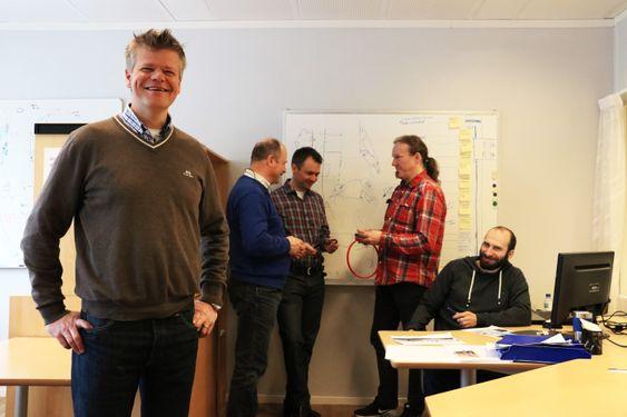 Daglig leder Christopher Carlsen (f.v), Brede Thorkildsen, Bjørn Trygve Hansen, Bert Pasop og Alexandr Tcacenco.