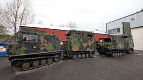 Forsvarets Arthur-systemer er i dag montert på Bv206.