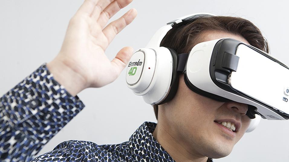 De nye VR-hodetelefonene til Samsung.