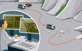 Scania skal lansere selvkjørende lastebiler til gruvedrift. Slike bruksområder er ifølge Chalmers-forsker Ola Benderius ventet å bli de første hvor teknologien tas i bruk.