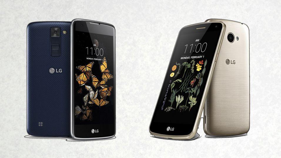 LG K8 (t.v.) og LG K5.