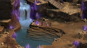 Isometrisk rollespill i Pillars of Eternity-stil.