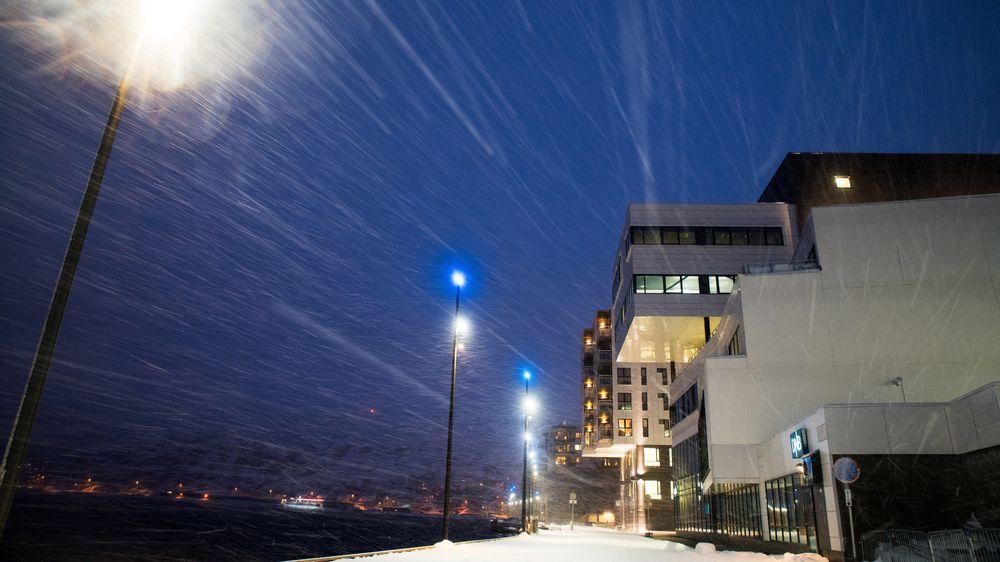 SLUDD: Hammerfest sentrum, her representert ved Eni Norges bygg på den gamle Findus-tomta. Da jeg kom hit første gang var det en råtten tanngard, ifølge kommunikasjonsdirektør i Eni Norge, Andreas Wulff.